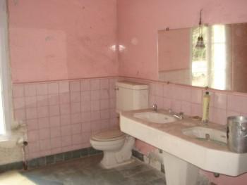 Salle de bain ancienne en mauvais tat location tournage - Salle de bain maison ancienne ...