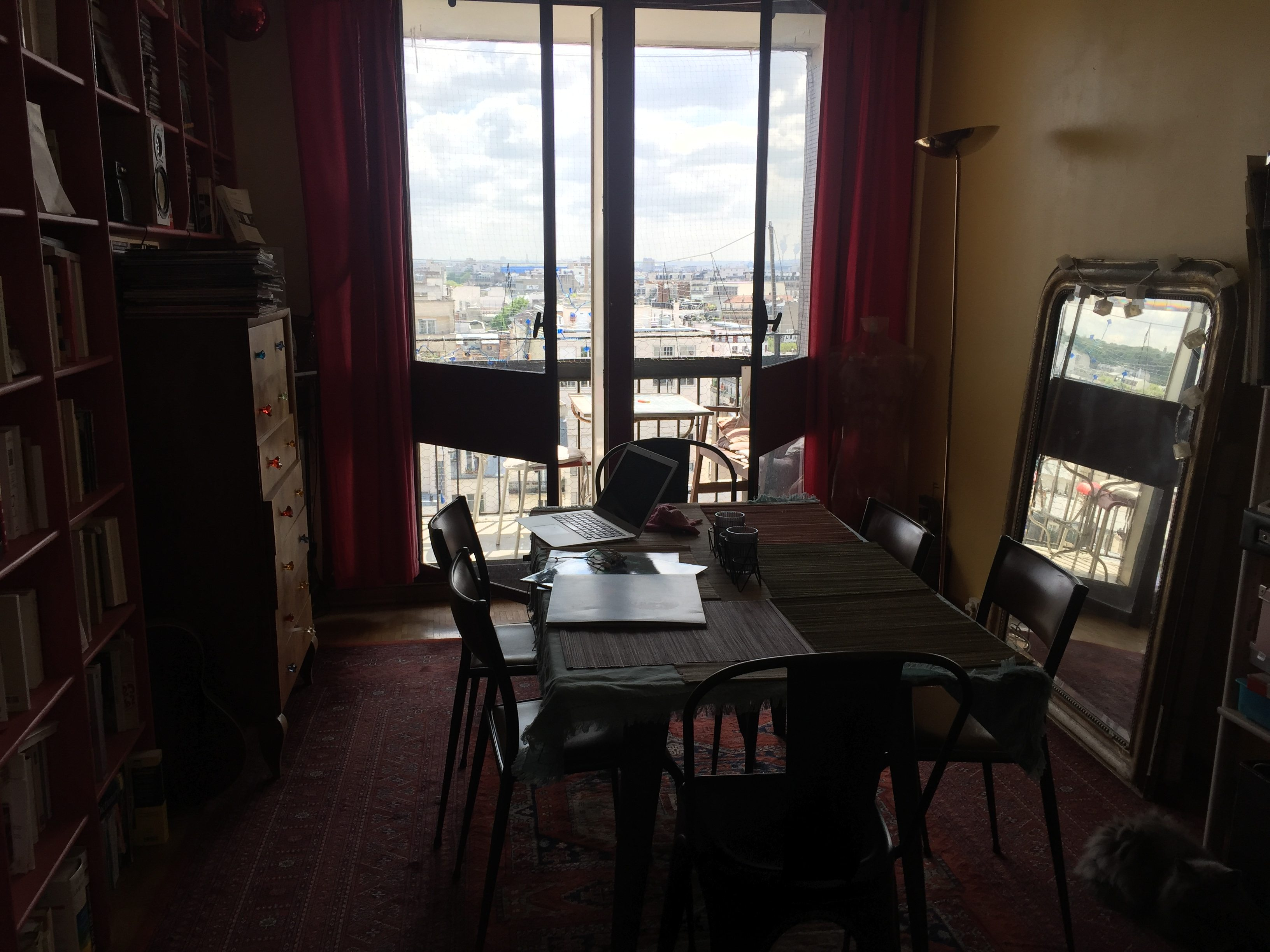 appartement Ménilmontant Belleville, vues toits de PARIS, Photo 4